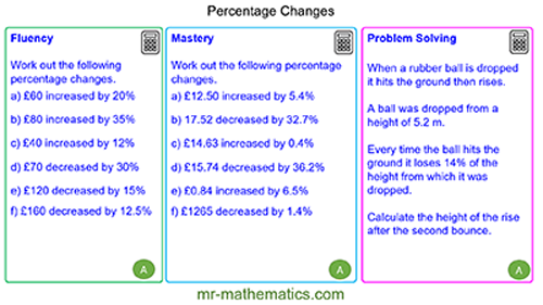 Extended Learning - Percentage Changes