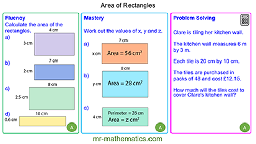 Extended Learning - Area of Rectangles