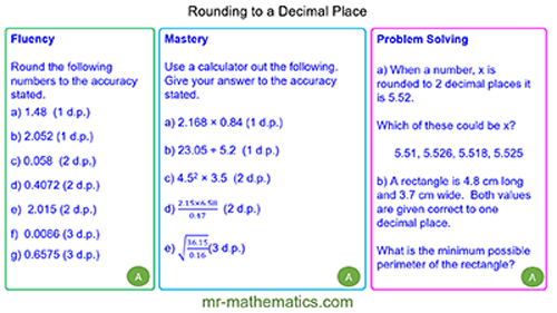 Extended Learning - Rounding to a Decimal Place