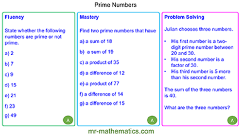 Extended Learning - Primes