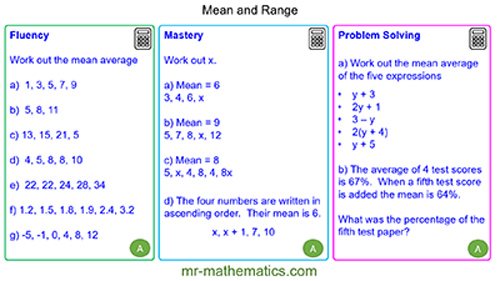Extended Learning - Mean Average