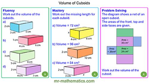 Volume of Cuboids