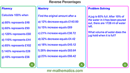 Reverse Percentages - Limits of Accuracy