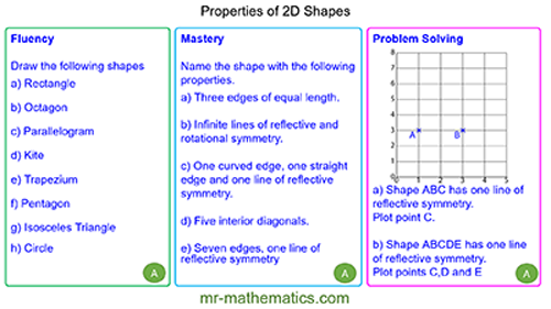 Extended Learning - Properties of 2D Shapes