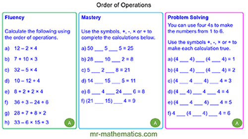 Extended Learning - Order of Operations