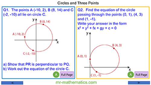 Circles and Three Points