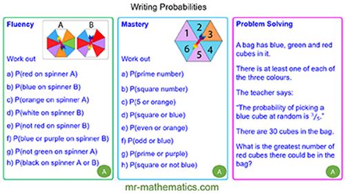 Writing Probabilities