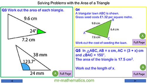 Area of Non-Right-Angled Triangles