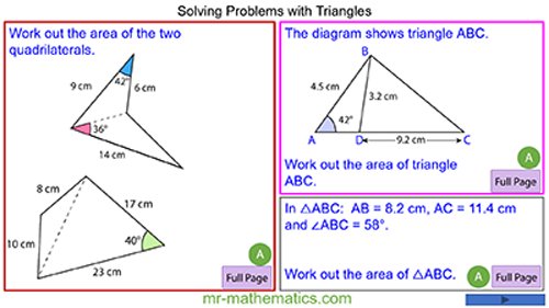 Problems with Non-Right-Angled Triangles