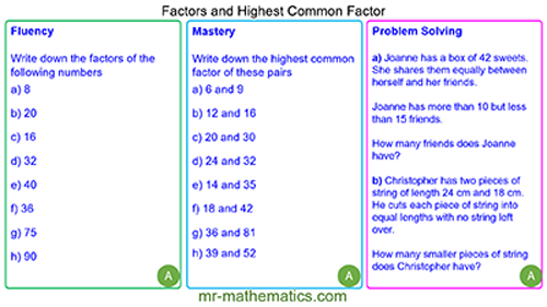 Factors and Factor Pairs
