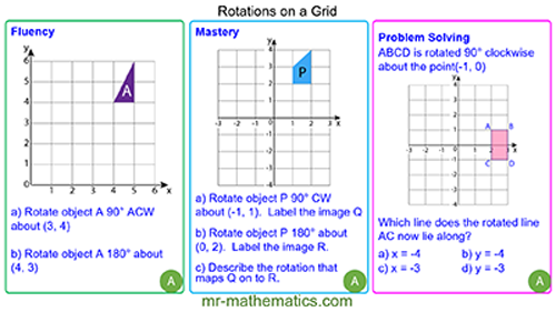 Rotating Shapes on a Grid